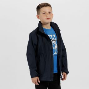 Kids Gabiel Waterproof Hooded Jacket Navy