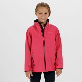Kids Gabiel Waterproof Hooded Jacket Hot Pink