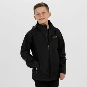Kids Gabiel Waterproof Hooded Jacket Black