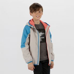 Kids Teega Reflective Waterproof Hooded Jacket Platinum Pluto