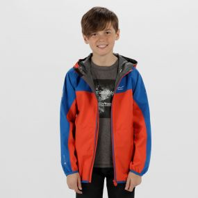 Kids Deviate Reflective Waterproof Jacket Amber Glow Oxford Blue