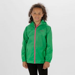 Kids Pack it Jacket III Waterproof Packaway Island Green
