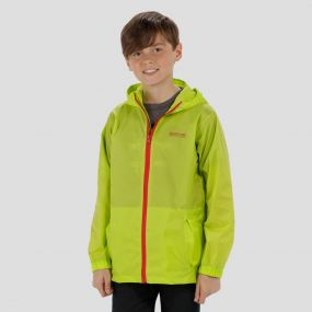 Kids Pack it Jacket III Waterproof Packaway Lime Zest