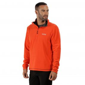 Thompson Half Zip Lightweight Fleece Amber Glow