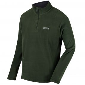 Thompson Half Zip Lightweight Fleece Racing Green