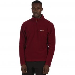 Thompson Half Zip Lightweight Fleece Spiced Mulberry