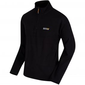 Thompson Half Zip Lightweight Fleece Black