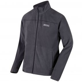 Fairview Mid Weight Full Zip Fleece Seal Grey and Iron