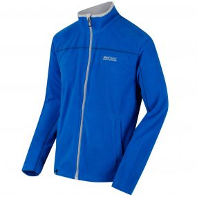 Fairview Mid Weight Full Zip Fleece Oxford Blue Light Steal