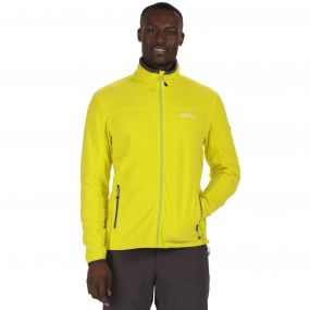 Stanton II Mid Weight Full Zip Fleece Neon Spring Seal Grey
