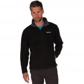 Stanton II Mid Weight Full Zip Fleece Black Seal Grey