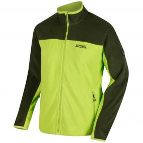 Stanton II Mid Weight Full Zip Fleece Lime Green Racing Green