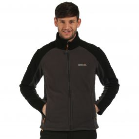 Hedman II Heavyweight Full Zip Fleece Iron Black
