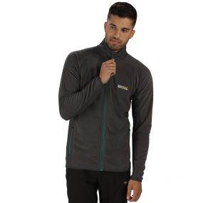 Ashton Lightweight Full Zip Stretch Fleece Seal Grey