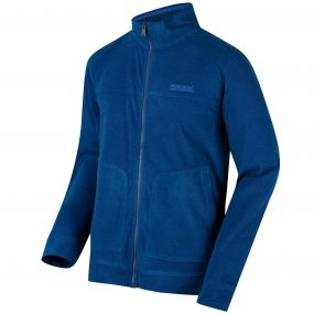 Ultar III Full Zip Mini Stripe Fleece Oxford Blue