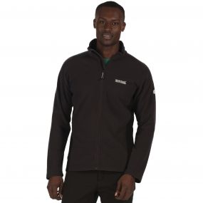 Men's Tafton Honeycomb Full Zip Stretch Fleece Seal Grey Black