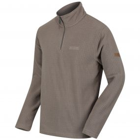 Elgon II Half Zip Grid Textured Fleece Sand