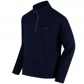 Elgon III Half Zip Grid Textured Fleece Navy