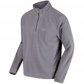 Elgon III Half Zip Grid Textured Fleece Rock Grey