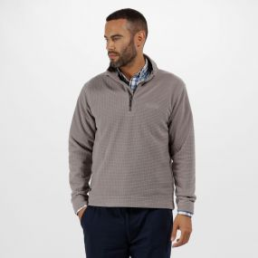Elgon III Half Zip Textured Grid Fleece Rock Grey