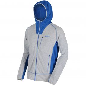CartersviIIe IV Hooded Full Zip Knit Effect Fleece Light Steel Oxford Blue