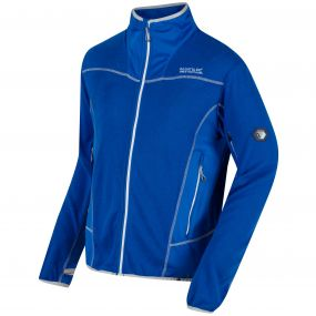 Collumbus IV Full Zip Knit Effect Fleece Oxford Blue