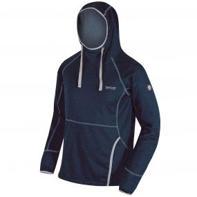Montem III Hooded Honeycomb Fleece Navy
