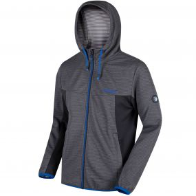 Tarnis Full Zip Hooded Fleece Seal Grey