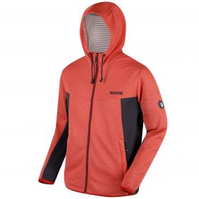 Tarnis Full Zip Hooded Fleece Burnt Tikka Seal Grey