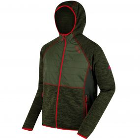Rocknell Hybrid Knit Effect Fleece Racing Green