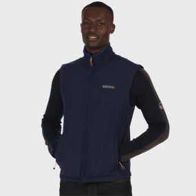 Bradwell II Wind Resistant Stretch Softshell Gilet Navy Oxford Blue