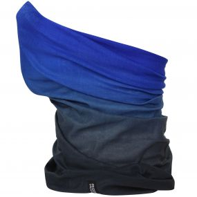 Adults Stretch Multitube Scarf Oxford Blue Seal Grey