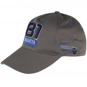 Crayton Navigator Sports Cap Rock Grey Oxford Blue