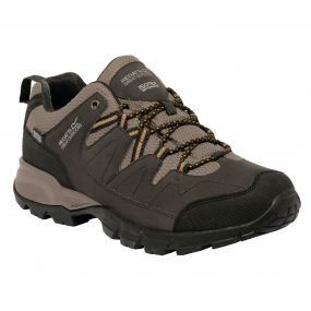 Holcombe Low Walking Shoe Peat Gold