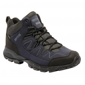 Men's Holcombe Mid Walking Boots Navy Blazer Granite