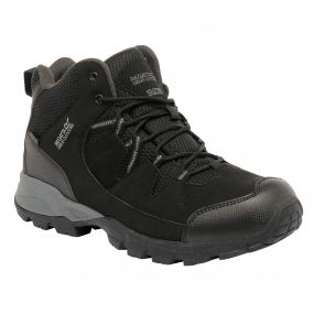 Regatta Men's Holcombe Mid Walking Boots Black Granite