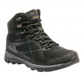 Men's Kota Mid Walking Boots Black Granite