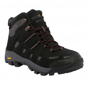 Men's Burrell Hiking Boots Black Granite