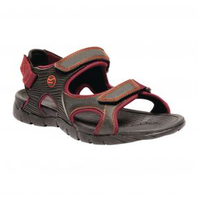 Men's Rafta Sport Lightweight Sandals Ash Delhi Red