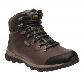 Men's Kota Leather Mid Walking Boots Peat Treetop