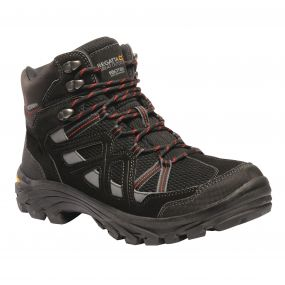 Men's Burrell II Hiking Boots Black Granite