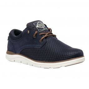 Men's Caldbeck Lite Nubuck Mesh Shoes Navy Partrid