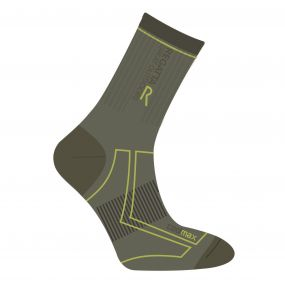 Men's 2 Season Coolmax Trek & Trail Socks Olive Dark Spring