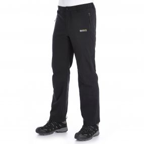 Mens Geo Softshell Trousers II Black