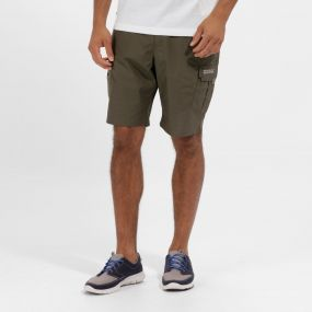 Men's Delph Multi Pocket Cargo Shorts Ivy Green