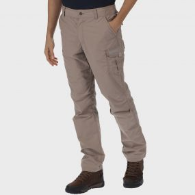 Men's Delph Cargo Trousers Nutmeg Cream