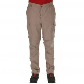 Mens Delph Zip Off Trousers Nutmeg Cream