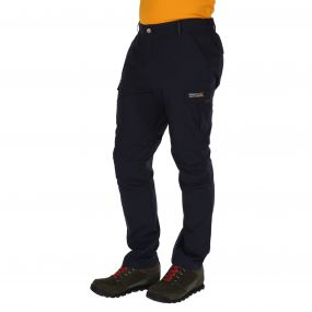 Mens Delph Zip Off Trousers Navy