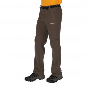 Xert Stretch Zip Off Trousers II Roasted