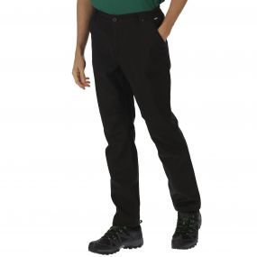 Men's Fenton Wind Resistant Softshell Trousers Black